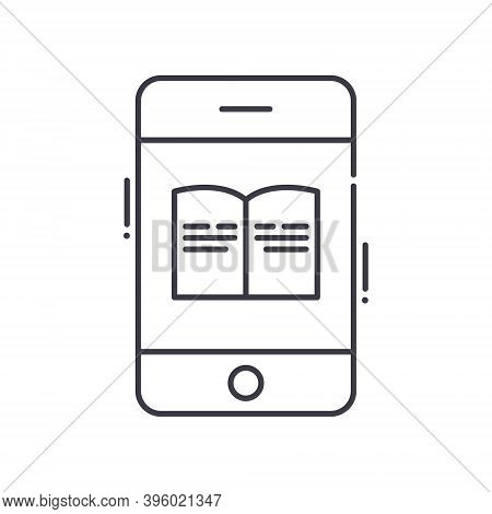 Phonebook Icon, Linear Isolated Illustration, Thin Line Vector, Web Design Sign, Outline Concept Sym
