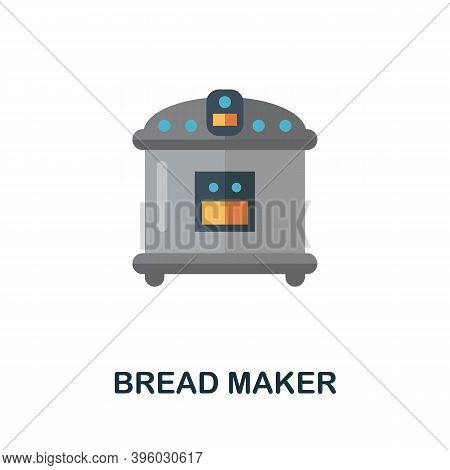 Bread Maker Icon. Simple Element From Kitchen Appliances Collection. Creative Bread Maker Icon For W