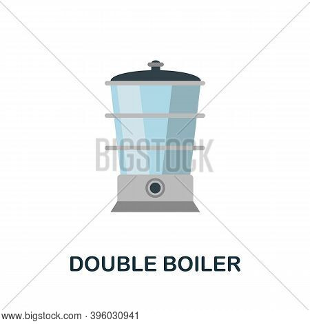 Double Boiler Icon. Simple Element From Kitchen Appliances Collection. Creative Double Boiler Icon F