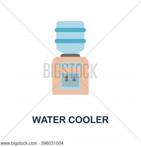 Water Cooler Icon. Simple Element From Kitchen Appliances Collection. Creative Water Cooler Icon For