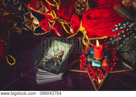 Concept Of Christmas Divination Predictions ,and Other European Magic. Europe, Ukraine. Kiev Novembe