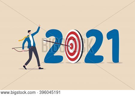New Year 2021 Resolution, Business Strategy Plan And Goal Achievement, Financial Target For Calendar
