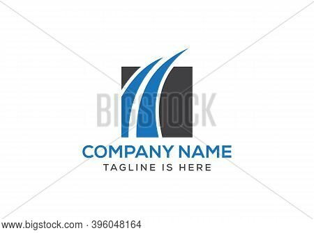 Business Chart Logo Designs Template. Financial Data Growth Logo Design Vector Stock.