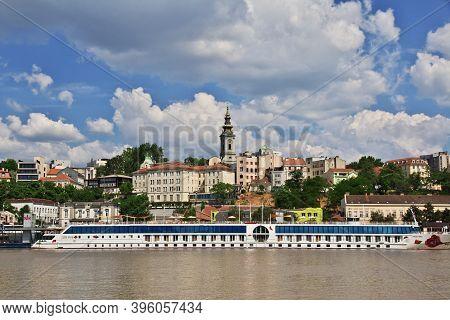 Belgrade, Serbia - 11 May 2018: The View Of Sava River In Belgrade, Serbia