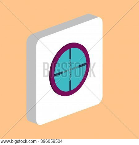 Crosshair Simple Vector Icon. Illustration Symbol Design Template For Web Mobile Ui Element. Perfect