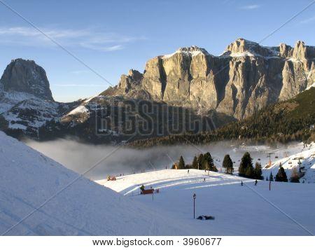 Dolomiti, Canazei - Pekol Lift And Fantastic Cloud