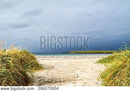 Narin Strand Is A Beautiful Large Blue Flag Beach In Portnoo, County Donegal - Ireland