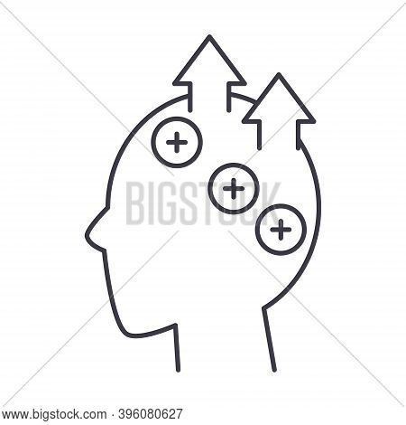 Efficient Thinking Icon, Linear Isolated Illustration, Thin Line Vector, Web Design Sign, Outline Co