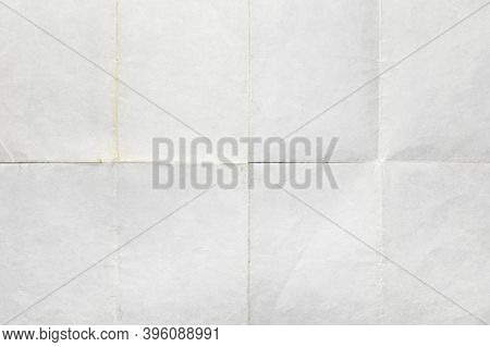 Old Letter, Paper Folded In Eight, Texture Background