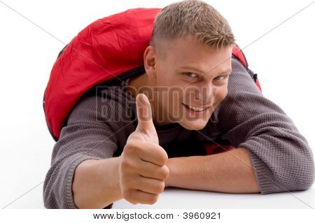 Young Guy Showing Thumbs Up