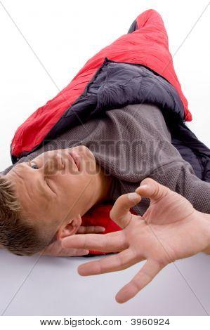 Man Showing Okay Hand Gesture