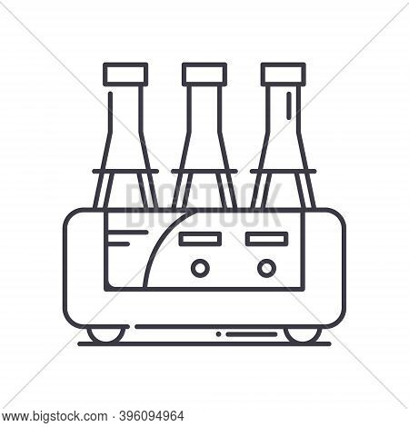 Drinking Production Icon, Linear Isolated Illustration, Thin Line Vector, Web Design Sign, Outline C