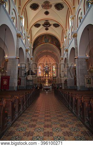 Maribor, Slovenia - 29 Apr 2018: Franciscan Church In Maribor, Slovenia