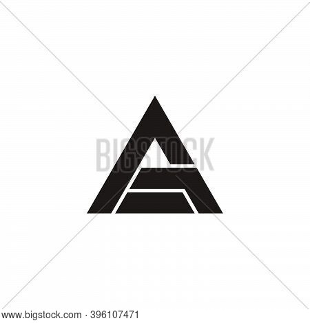 Abstract Triangle Letter Ag Arrow Up Symbol Logo Vector