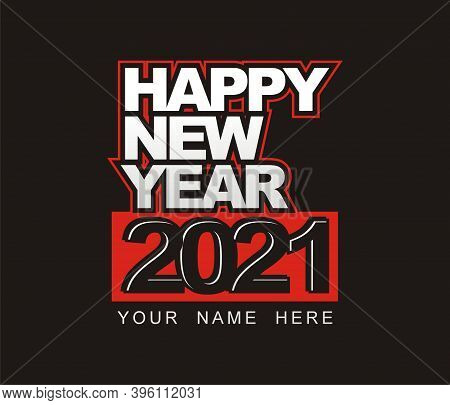 Design Vector Happy New Year Eve 2021 - Typography Concept Free Download
