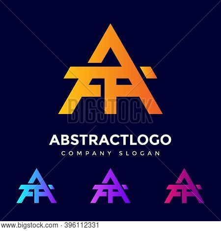 At Letter Logo Icon Vector Template Elements, Corporate, Shape, Modern And Unique