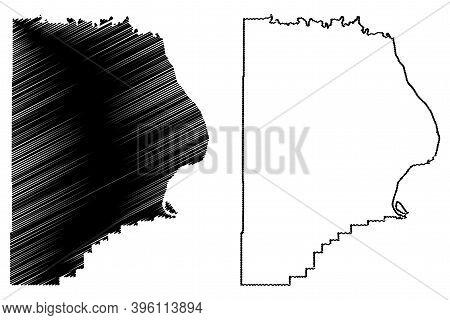 Cape Girardeau County, Missouri (u.s. County, United States Of America, Usa, U.s., Us) Map Vector Il