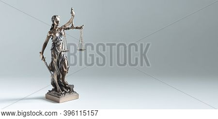 Statue Of Justice - Lady Justice. Law, Legal Concept