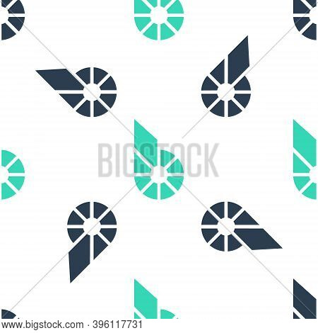 Green Cryptocurrency Coin Bitshares Bts Icon Isolated Seamless Pattern On White Background. Physical