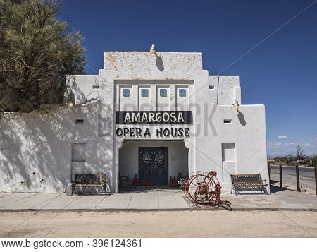 Death Valley Junction, Usa - September 15, 2014: Amargosa Opera House And Hotel Is A Historic Buildi