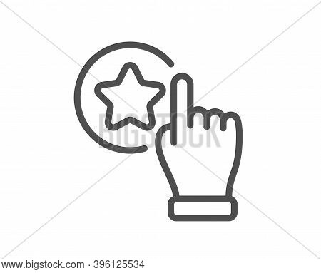 Rate Button Line Icon. Best Ranking Sign. Rating Symbol. Quality Design Element. Linear Style Rate B