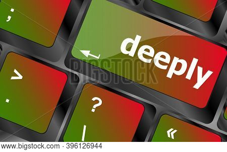 Deeply Word On Keyboard Key, Notebook Computer Button