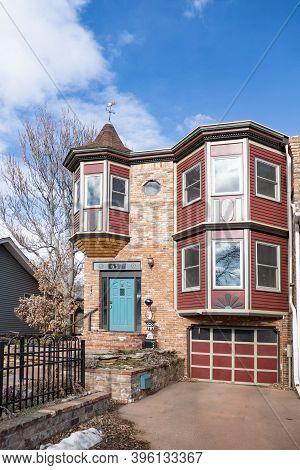Boulder, Usa - December 25, 2019: View Of Arnett-montgomery House In Boulder, Co.