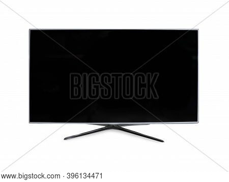 Modern Blank Wide Screen Tv Monitor Isolated On White