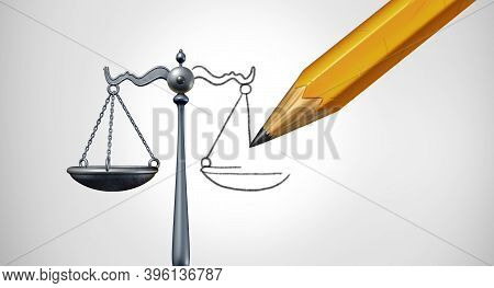 Change The Law Or Ammendment And Changing Legislation Or Modify Laws As A Legal Concept Of Justice M