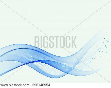 Abstract Background Vector Abstract Blue Wave.wavy Lines, Abstract Water Flow.