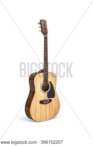 Classical Guitar Isolated On White Background - 3d Render