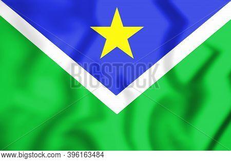 3d Flag Of Vitoria Do Jari (amapa State), Brazil. 3d Illustration.