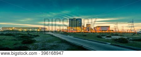 Dungeness, Kent, Uk - 22nd March 2018: The Edf Nuclear Power Station At Dungeness Photographed Short