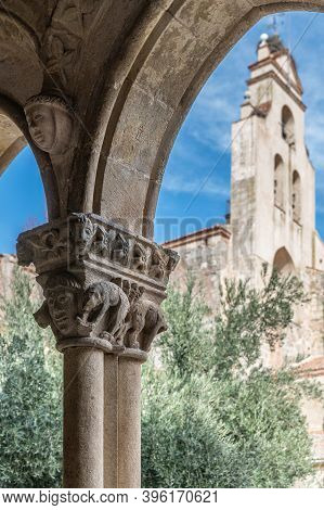 Cloister Of The Monastery Of Our Lady Soterraña In Santa Maria La Real De Nieva In The Province Of S
