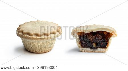 Christmas  Mini Mince Pie Isolated On White