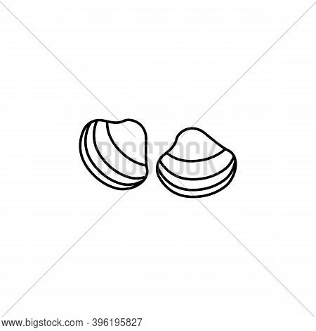 Clam Line Icon. Signs And Symbols Can Be Used For Web, Logo, Mobile App, Ui, Ux
