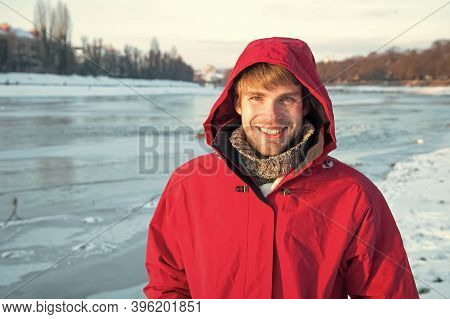 Safety Measures. Polar Explorer. Winter Menswear. Winter Outfit. Ice Fishing Is Winter Tradition. Ma