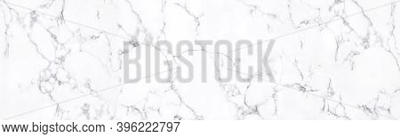 Panorama Images Of Natural White Marble Stone Texture For Background Or Luxurious Tiles Floor And Wa