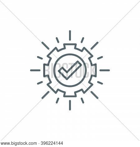 Execution Icon, Color, Line, Outline Vector Sign, Linear Style Pictogram Isolated On White. Symbol,