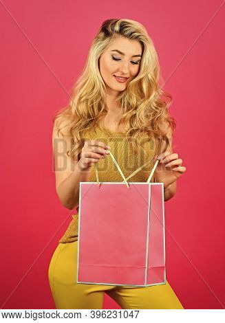 Own Business. Girl Online Shopping. Woman Prepare For Holidays. Savings On Purchases. Sexy Lady With