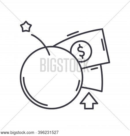 Venture Capital Icon, Linear Isolated Illustration, Thin Line Vector, Web Design Sign, Outline Conce