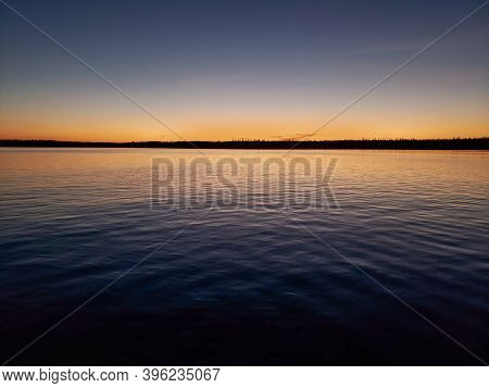 Dock At Sunset, Child's Lake, Duck Mountain Provincial Park, Manitoba, Canada