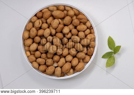 Cracker Nuts, Japanese Peanuts Or Japanese Style Peanuts, A Snack Food Made From Peanuts That Are Co