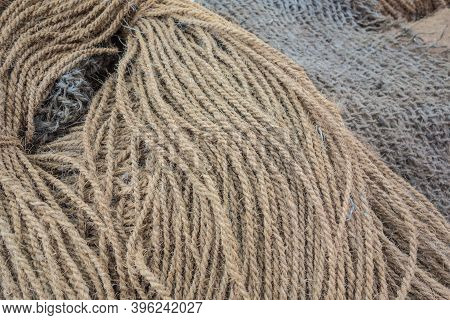 Manila Hemp Products Background: Nautical Ropes, Fishing Nets, Twine, Sacks And Other Products From
