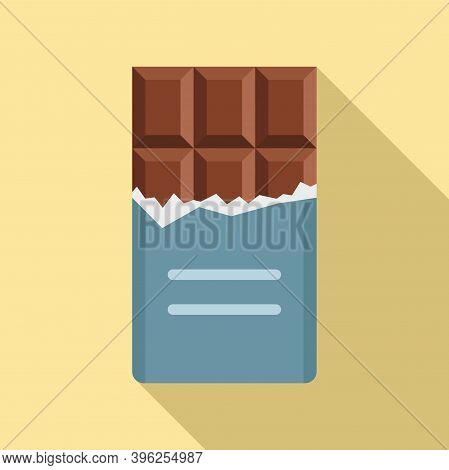 Duty Free Shop Chocolate Bar Icon. Flat Illustration Of Duty Free Shop Chocolate Bar Vector Icon For