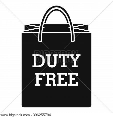 Duty Free Paper Bag Icon. Simple Illustration Of Duty Free Paper Bag Vector Icon For Web Design Isol
