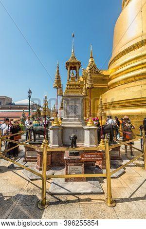 Bangkok, Thailand - December 7, 2019: View Of The Phra Bussabok In A Temple Complex In Bangkok, Thai