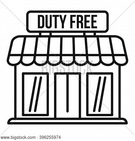 Duty Free Shop Icon. Outline Duty Free Shop Vector Icon For Web Design Isolated On White Background