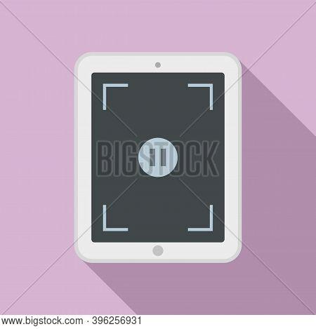 Pause Screen Recording Icon. Flat Illustration Of Pause Screen Recording Vector Icon For Web Design