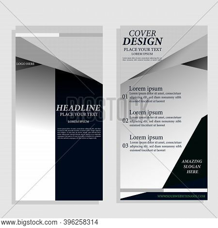 Set Modern Abstract Geometric Annual Report Flyer Flyer, Presentation Cover, Magazine Advert. Cover